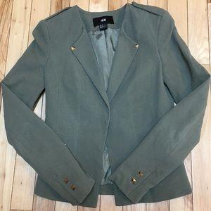 H&M Military-Inspired Green Blazer Size 2